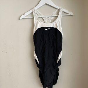 Nike Black and White One Piece Swim